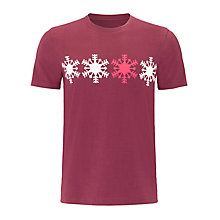 Buy John Lewis Snowflake Print Lounge T-Shirt, Burgundy Online at johnlewis.com