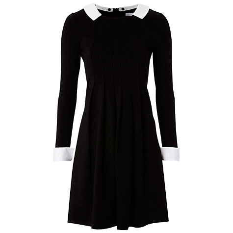Buy Hobbs Coco Collared Dress, Black Online at johnlewis.com