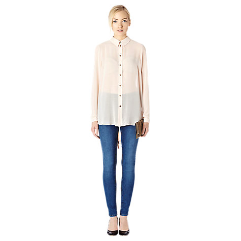Buy Warehouse Embellished Cowl Back Blouse, Stone Online at johnlewis.com
