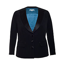 Buy Chesca Satin Back Contrast Jacket, Black Online at johnlewis.com
