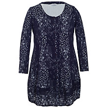 Buy Chesca Cloque Jersey Cardigan, Navy Online at johnlewis.com
