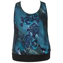 Buy Chesca Floral Print Camisole, Blue Online at johnlewis.com