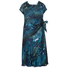 Buy Chesca Floral Printed Dress, Teal Online at johnlewis.com