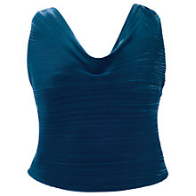 Buy Chesca Pleated Camisole, Teal Online at johnlewis.com