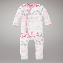 Buy Pigeon Safari Print Romper, Pink Online at johnlewis.com