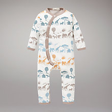 Buy Pigeon Safari Print Romper Suit, White Online at johnlewis.com