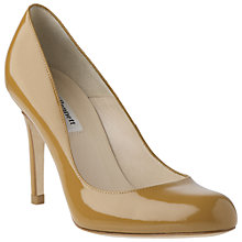 Buy L.K. Bennett Shilo Patent Leather Round Toe Court Shoes, Mustard Online at johnlewis.com