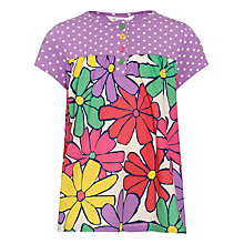 Buy John Lewis Girl Happy Mix Top, Multi Online at johnlewis.com