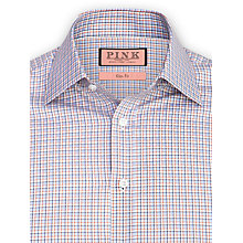 Buy Thomas Pink Touring Check Shirt, Blue/Orange Online at johnlewis.com