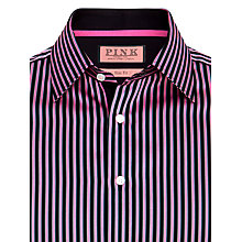 Buy Thomas Pink Longford Stripe Shirt, Pink Online at johnlewis.com