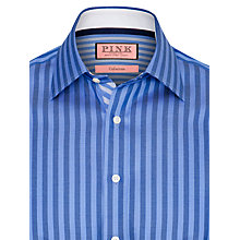 Buy Thomas Pink Deal Stripe Shirt, Blue/Navy Online at johnlewis.com