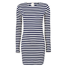 Buy French Connection Toulouse Stripe Dress, Unicorn/Blue Blood Online at johnlewis.com