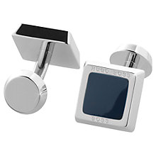 Buy Hugo Boss Franzisko Cufflinks, Navy Online at johnlewis.com