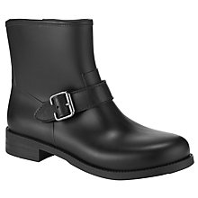Buy John Lewis Derwent Biker Short Wellington Boots, Black Online at johnlewis.com