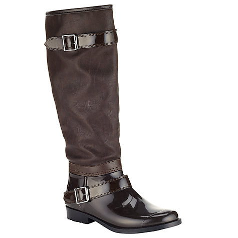Buy John Lewis Windermere Rubber Mix Riding Wellies, Brown Online at johnlewis.com