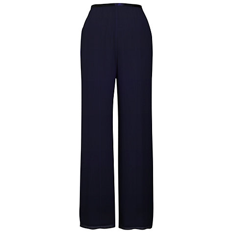 Buy Chesca Pintuck Detail Trousers, Navy Online at johnlewis.com