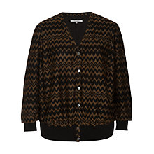 Buy Chesca Zig-Zag Top, Black/Chestnut Online at johnlewis.com