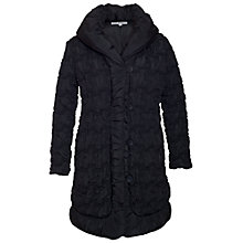 Buy Chesca Bonfire Border Coat, Black Online at johnlewis.com