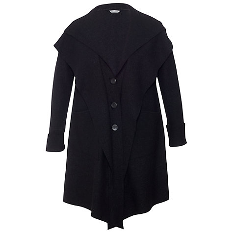 Buy Chesca Double Collar Coat, Black Online at johnlewis.com