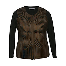 Buy Chesca Stripe Cardigan, Black/Mink Online at johnlewis.com