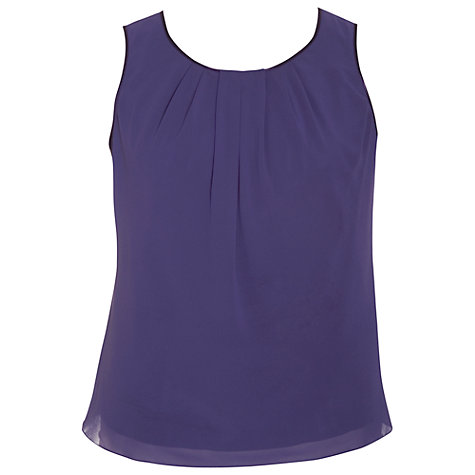 Buy Chesca Satin Trim Camisole, Violet Online at johnlewis.com