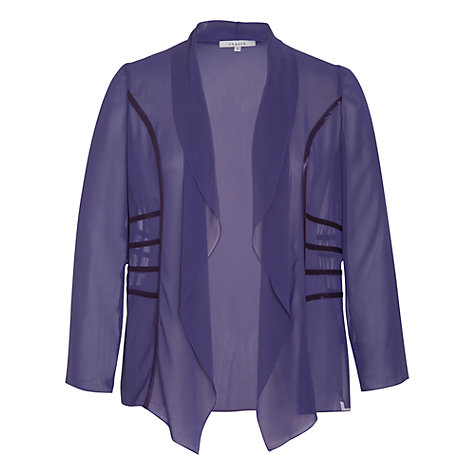 Buy Chesca Satin Trim Shrug, Violet Online at johnlewis.com
