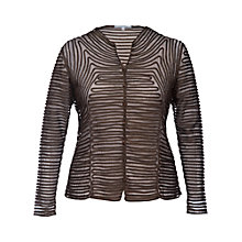 Buy Chesca Two Tone Skeleton Jacket, Black/Mink Online at johnlewis.com