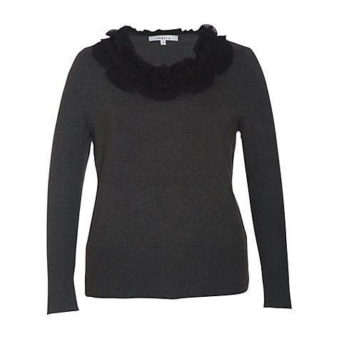 Buy Chesca Pleated Jumper, Charcoal Online at johnlewis.com