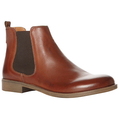 Buy Dune Paddy D Leather Elasticated Side Chelsea Boots, Tan Online at johnlewis.com