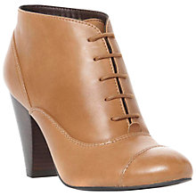 Buy Dune Newbridge Leather Lace Up High Block Heel Ankle Boots Online at johnlewis.com