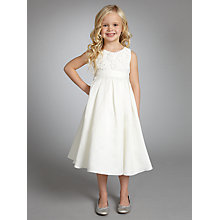 Buy John Lewis Girl Embroidered Flower and Beaded Dress, Ivory Online at johnlewis.com