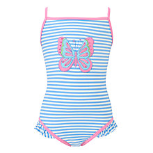 Buy John Lewis Girl Butterfly Swimsuit, Blue/Pink Online at johnlewis.com