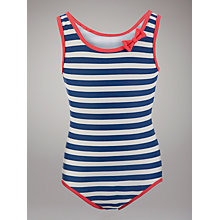 Buy John Lewis Girl Nautical Stripe Swimsuit, Multi Online at johnlewis.com
