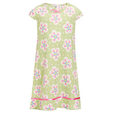 Buy John Lewis Girl Short Sleeved Floral Nightie, Green/Multi Online at johnlewis.com
