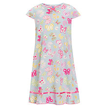 Buy John Lewis Girl Short-Sleeved Butterfly Nightdress, Blue/Multi Online at johnlewis.com