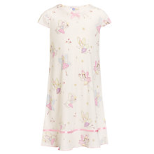 Buy John Lewis Girl Short Sleeved Fairy Nightie, Cream Online at johnlewis.com