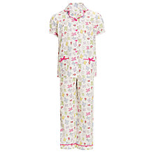 Buy John Lewis Girl Short Sleeved Bird Pyjamas Online at johnlewis.com