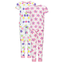 Buy John Lewis Girl Bold Flower and Spot Pyjamas, Pack of 2 Online at johnlewis.com