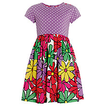 Buy John Lewis Girl Happy Mix Dress, Multi Online at johnlewis.com