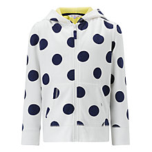 Buy John Lewis Girl Spotted Zip Through Hooded Top Online at johnlewis.com