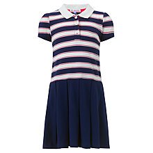 Buy John Lewis Girl Striped Tennis Dress, Navy/White Online at johnlewis.com
