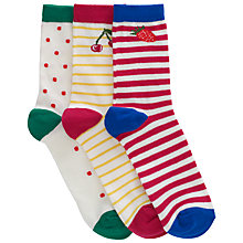 Buy John Lewis Girl Fruit Socks, Pack of 3 Online at johnlewis.com