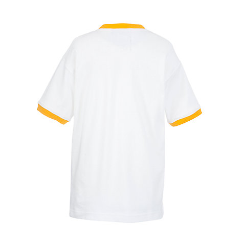 Buy School Unisex Gym T-Shirt with Trim, White/Orange Online at johnlewis.com