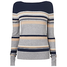 Buy Jaeger Striped Jumper, Navy Online at johnlewis.com
