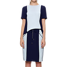 Buy Whistles Colour Block Top, Blue/Multi Online at johnlewis.com