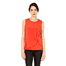 Buy Oasis Silk Shell Top, Coral Online at johnlewis.com