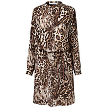 Buy Gérard Darel Leopard Print Belt Dress, Neutrals Online at johnlewis.com