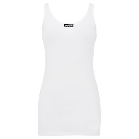Buy Warehouse Longline Cami, White Online at johnlewis.com