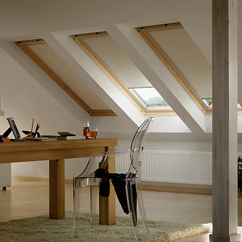 Buy VELUX Patterned Blackout Roller Blinds, Beige/White Online at johnlewis.com