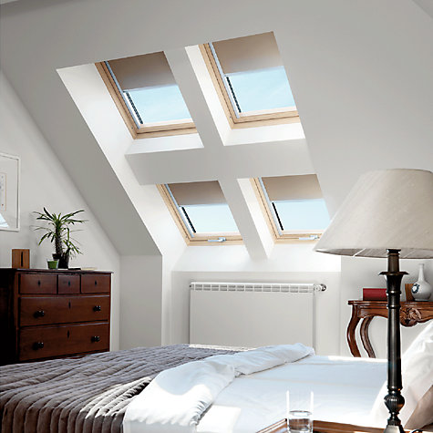 Buy VELUX Patterned Blackout Roller Blinds, Beige/Gold Online at johnlewis.com